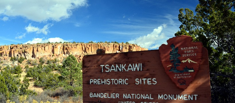 Tsankawi entrance sign