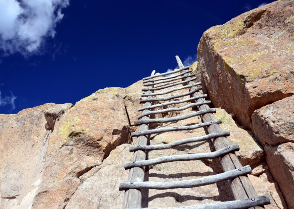 Ladders at Tsankawi