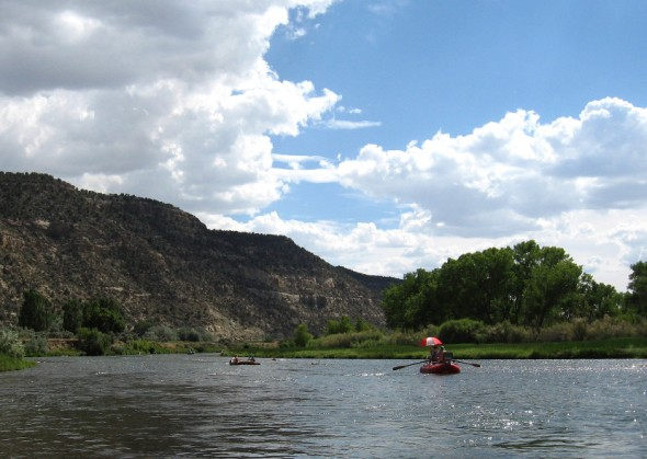 Drift Boats on the San Juan River in NM