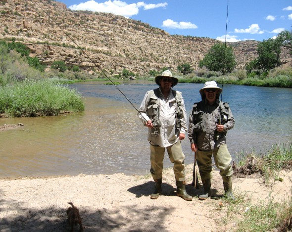 Fishermen on the San Juan river in New Mexico