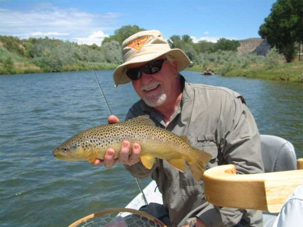 Tim McCarthy & a lower San Juan River Brown trout.