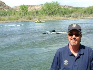 Marc Wethington, Fisheries Biologist for the New Mexico Department of Game and Fish stationed on the San Juan River at Navajo Dam.