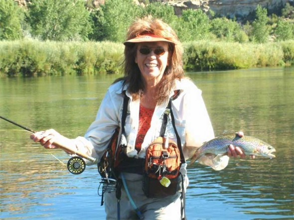 San Juan fishing guide, Peggy Harrell, makes fishing on the river look easy.