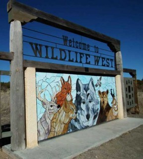 The sign at Wildlife West Nature Park in Edgewood, New Mexico.