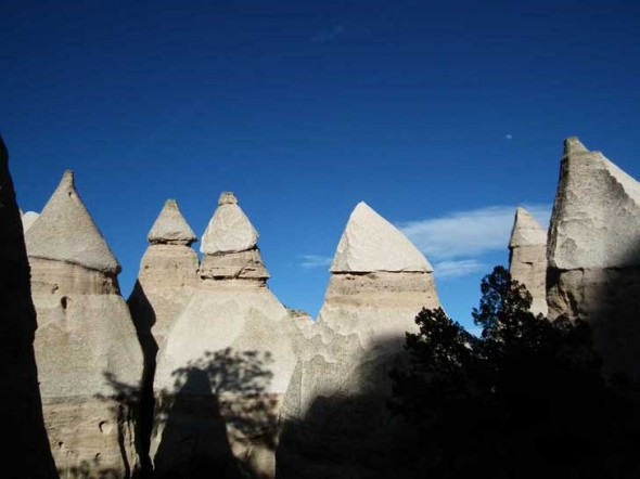 Hoodoos in Canyon Trail at Tent Rocks National Monument in New Mexico.