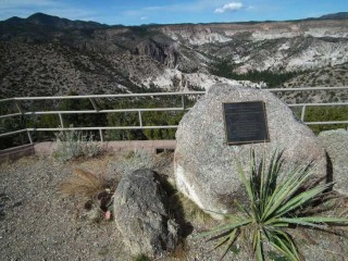 Veterans Memorial Overlook at Tent Rock National Monument in New Mexico.