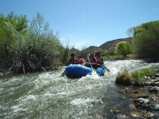 A little white water on  a back channel of the Rio Grande.