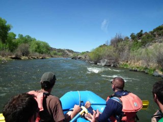 Heading downstream on the Rio Grande.