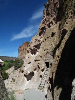 Cliff dwellings at Bandelier National Monument.