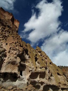 Natural caves formed in the soft volcanic rock found in the Jemez Mountians made for excellent native dwellings.