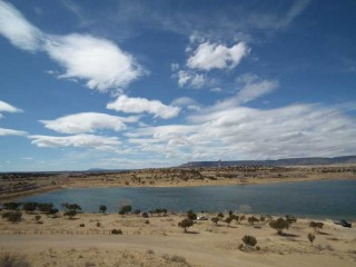 The recently reopened Lake at Acomita pueblo.