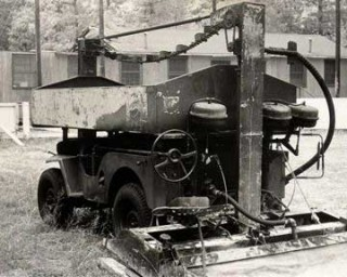Fire damaged Zamboni # 4. Photo Courtesy of the Zamboni Co.