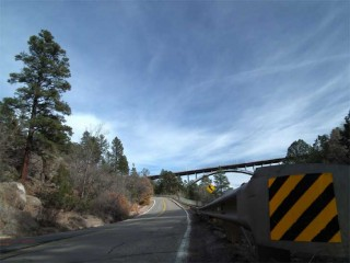 West Rd. leads to the Los Alamos County open air ice rink.