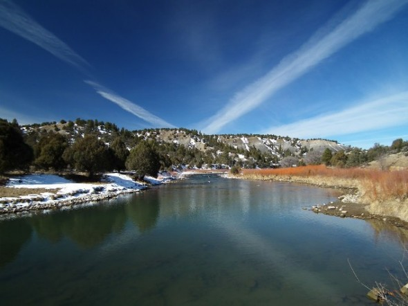 Scenic shot of Rio Chama in northern New Mexico.