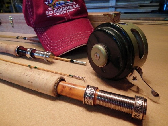 bamboo rod and old fashioned reel