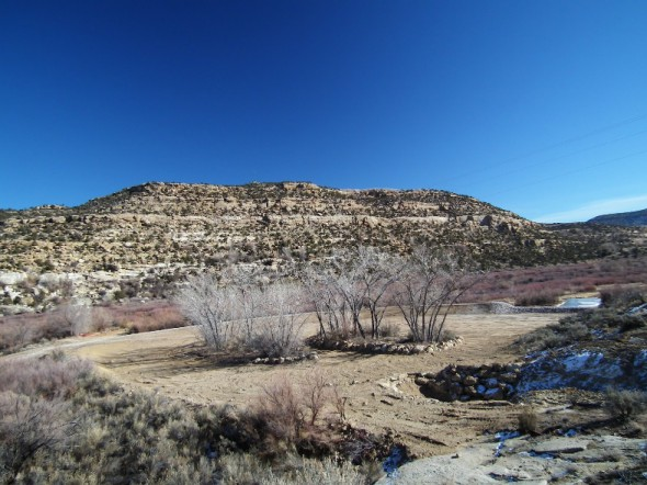 flood dam at Texas Hole on San Juan River