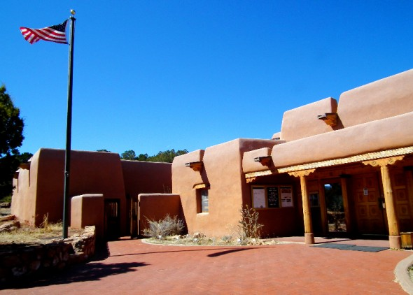 visitors center at the Pecos National Historical Monument.