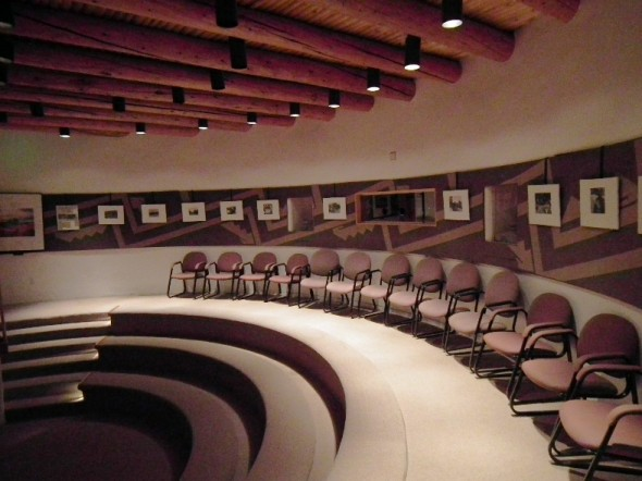 The Kiva auditorium at the Pecos National Historical Monument in New Mexico.
