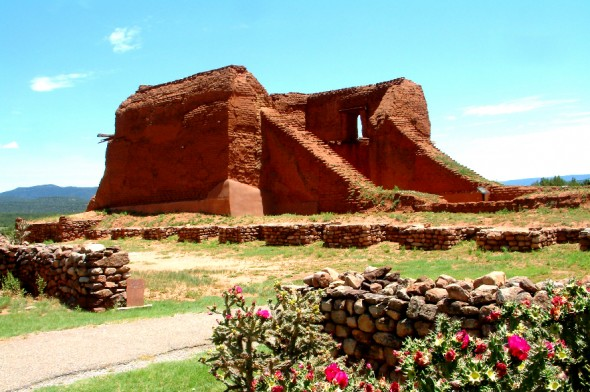 Church ruins at the Pecos National Historical Monument.