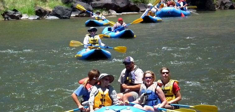 Teachers enjoy a float down the Rio Grande in northern New Mexico courtesy of Far Flung Adventures