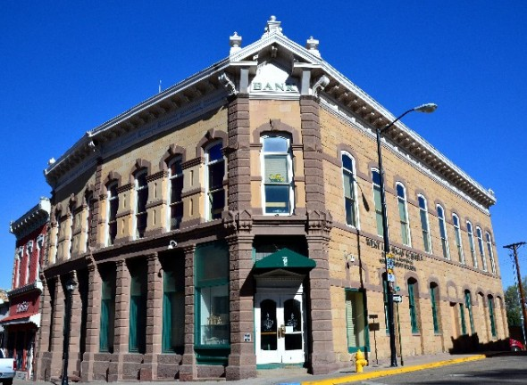 Old bank in Las Vegas New Mexico