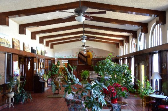 Lobby of El Fidel Hotel in Las Vegas NM.