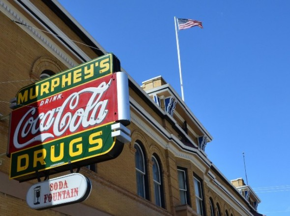 Murphey's drug store sign in Las Vegas NM.