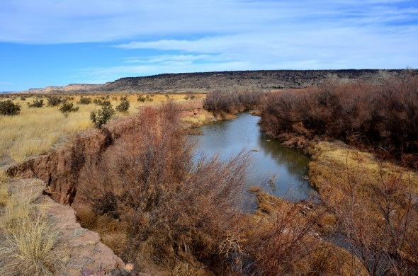 The Dry Cimarron River in northeastern New Mexico.