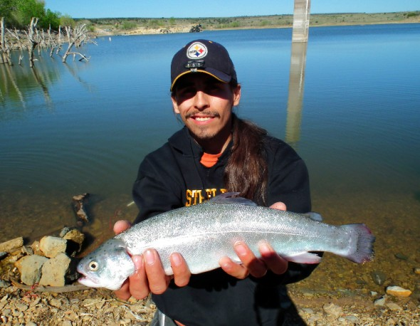 Mikie Montoya with  trout