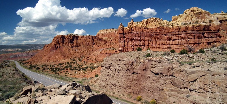 U.S. 64 at Red Rock Canyon at Abiquiu Lake