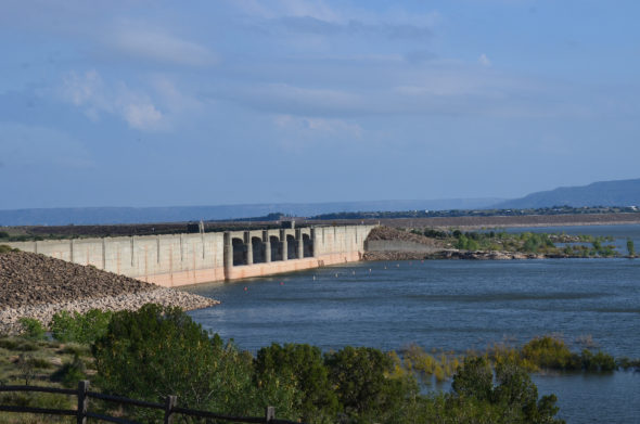 Conchas Lake dam in New Mexico